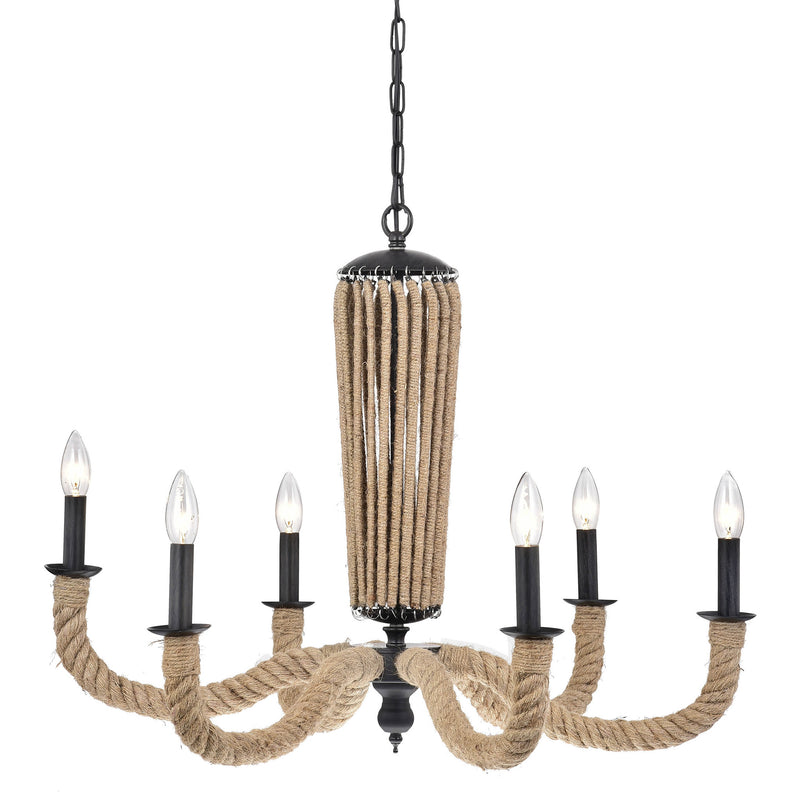 Gelos 6 Light Candle Chandelier