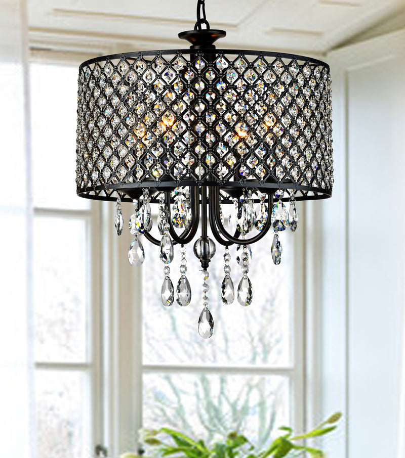 Pluto 4 Light Drum Chandelier