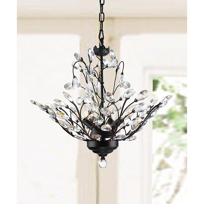 Terra 4 Light Crystal Chandelier