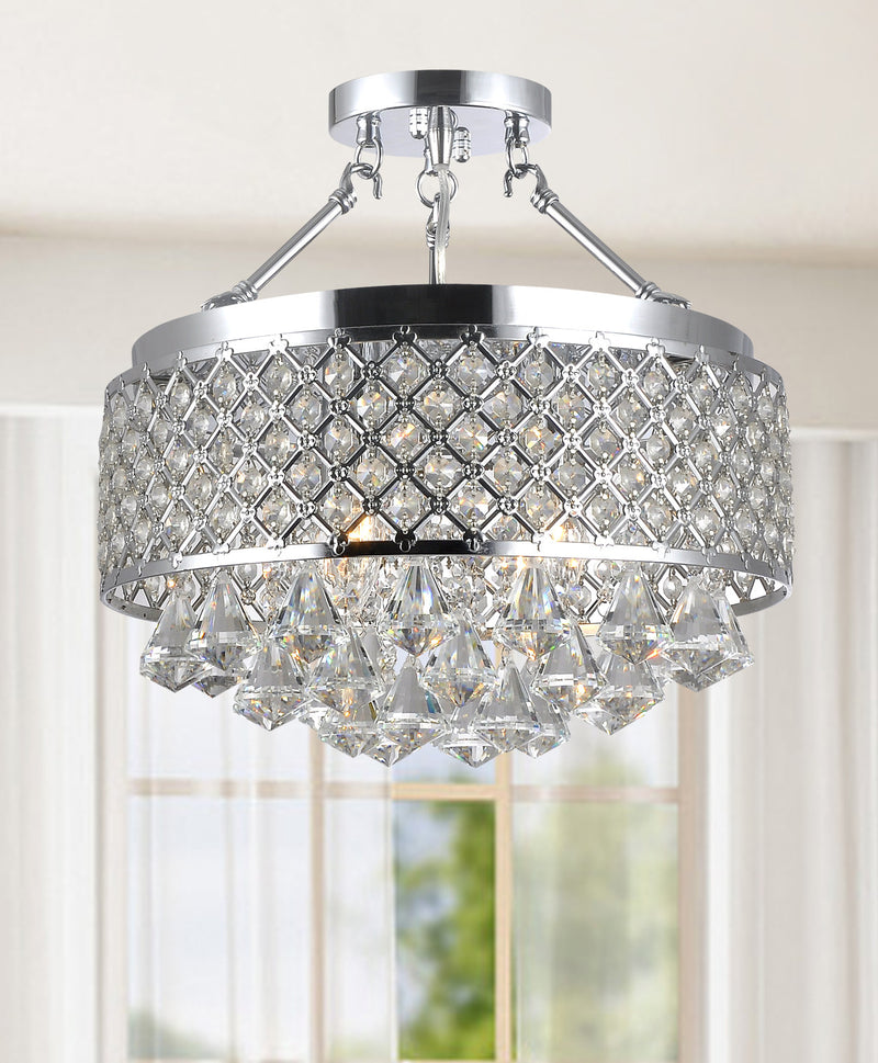 Caelus 4 Light Semi Flush Mount