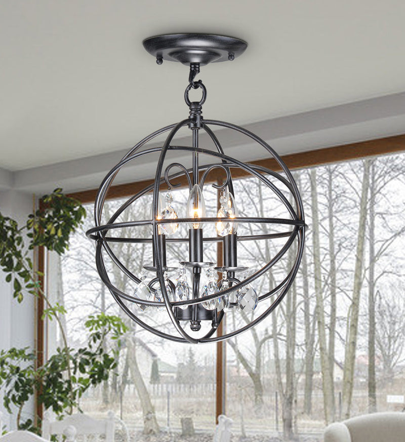 Deimos 3-Light Globe Pendant