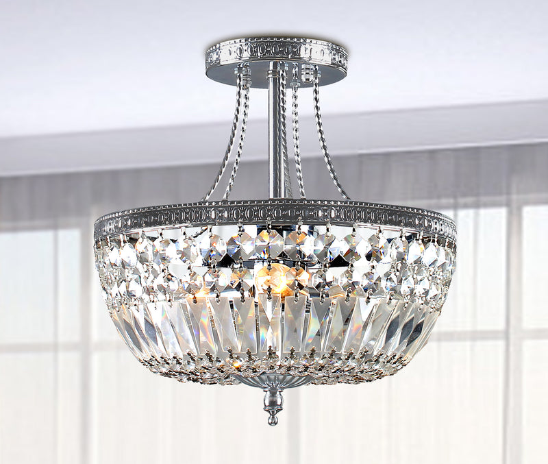 Leto 3 Light Semi Flush Mount