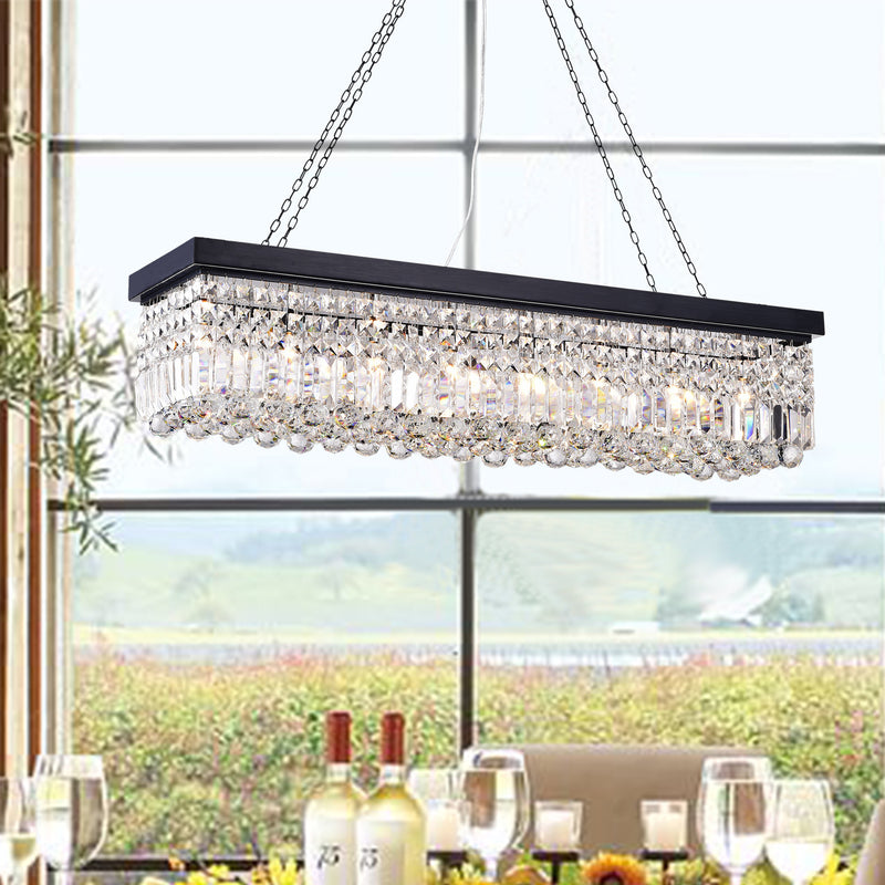 Thanatos 8 Light Chandelier - Brownish Black