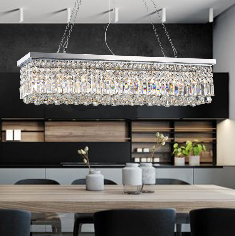 Thanatos 8 Light Chandelier - Chrome