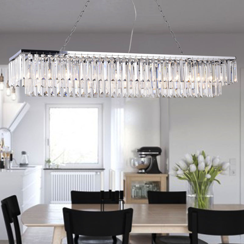 Hybris 8 Light Chrome Chandelier