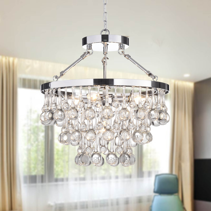 Koalemos 5 light Chrome Chandelier