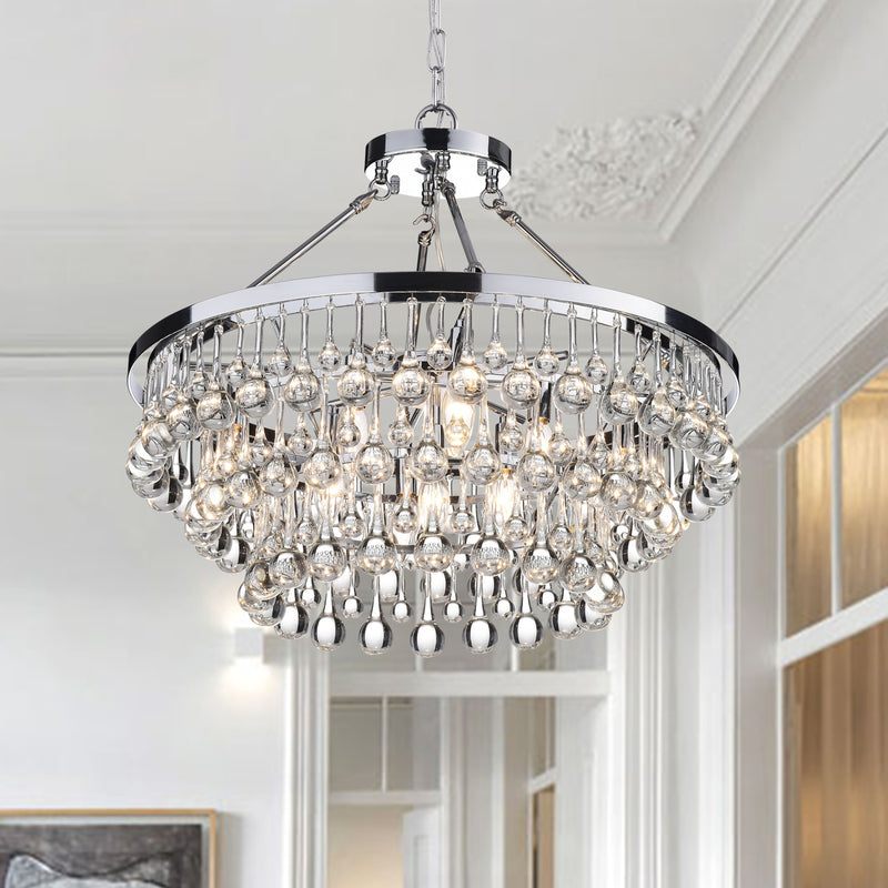 Loke 9 Light Chrome Chandelier