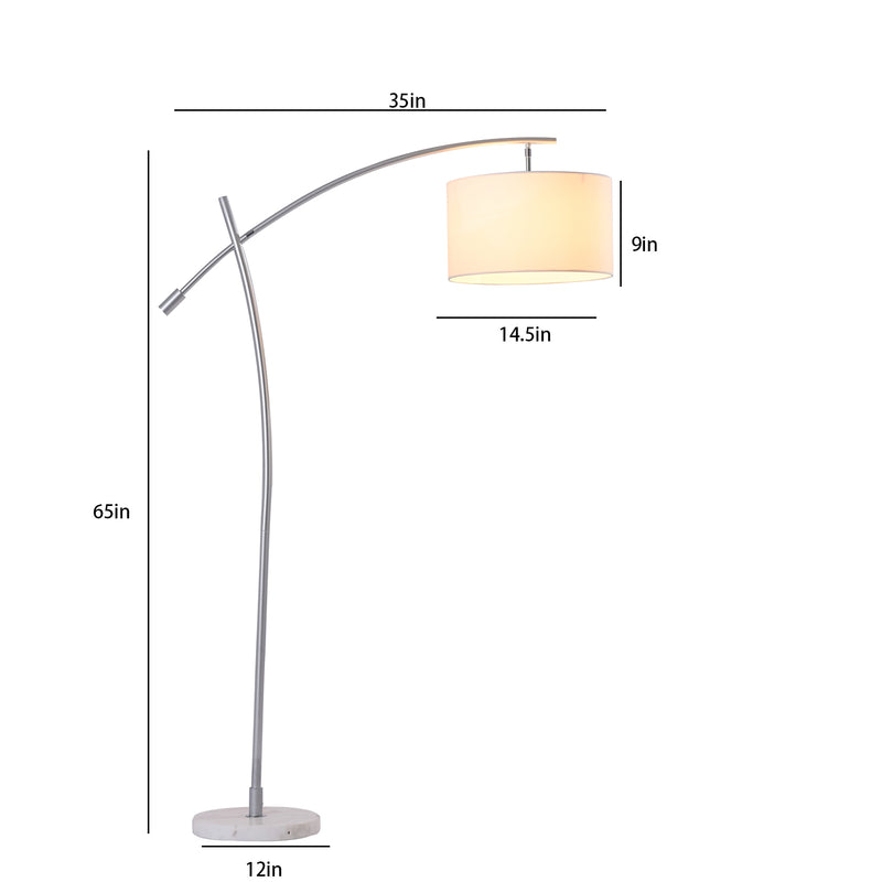 Moderno Chrome Finish Arched Floor lamp