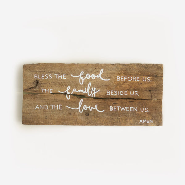 Reclaimed Barn Wood Sign - Blessing