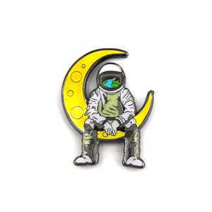 The Moonman Lapel Pin