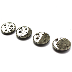 The Moon Phases Glowing Lapel Pin Set