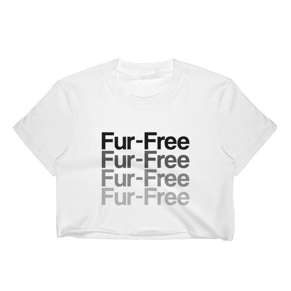 Fur-Free Women's White Crop - S - Faunapparel