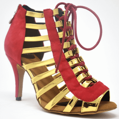 Chantel Red Social Dance Shoes