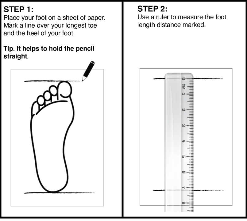 how to measure your foot guide