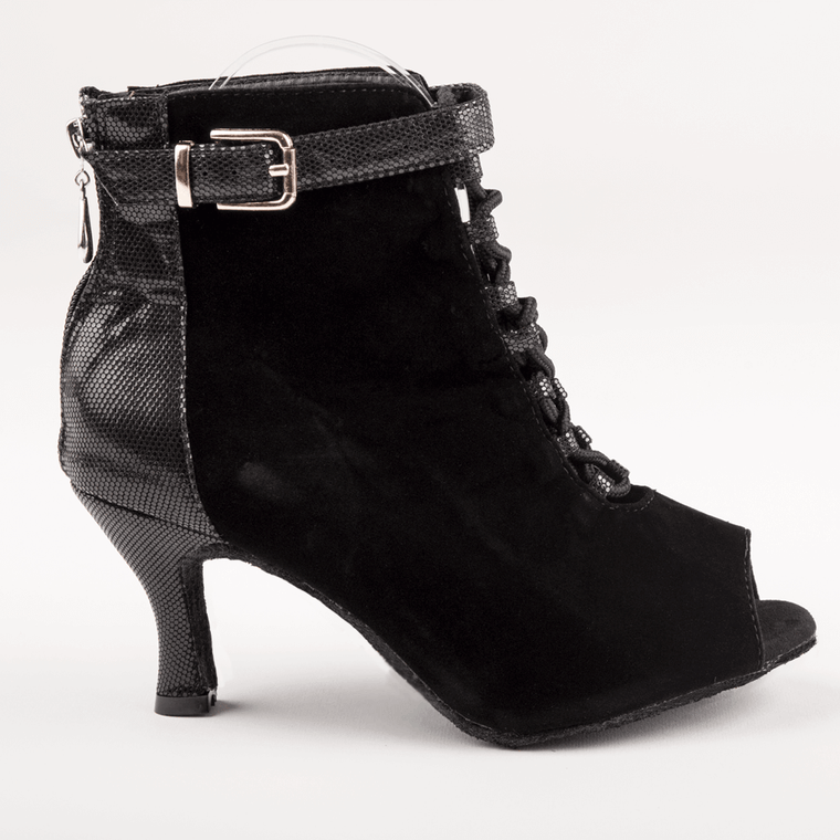 Maggie Open Toe Dance Bootie Black