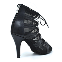 Maribell Black Dance Shoes Full Lace Up
