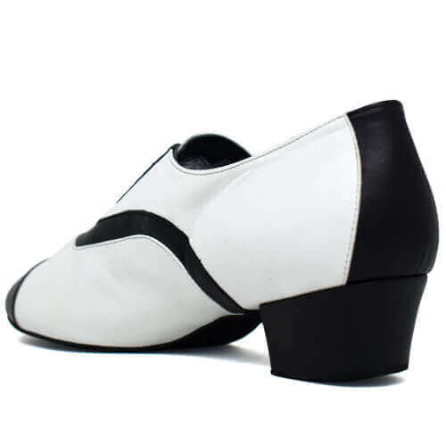 Leo Black & White Performance  Unisex Dance Shoe Flats
