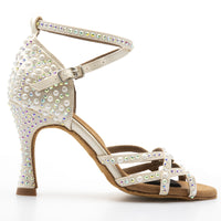 Ariel Latin Dance Shoe Pearl & Diamond Studded
