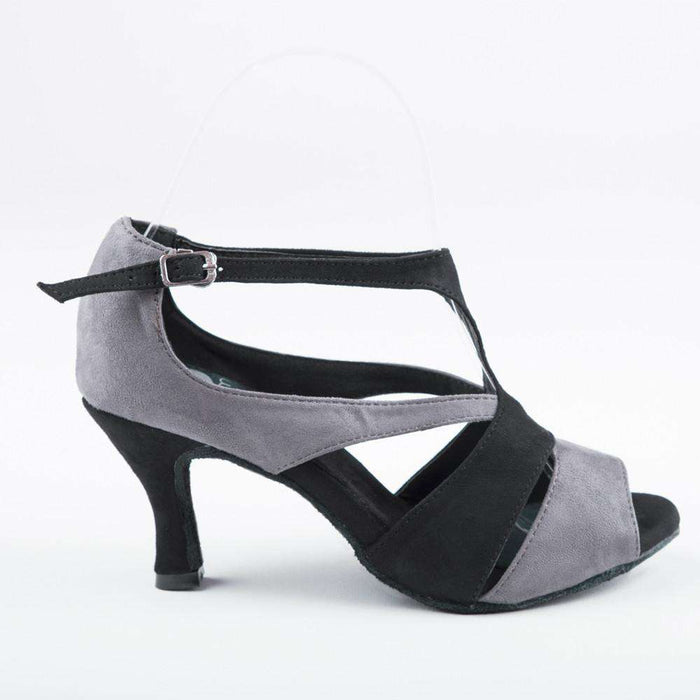 Yami Dance Shoes Dance Shoes 5 / 3in Flair Tamia Grey & Black