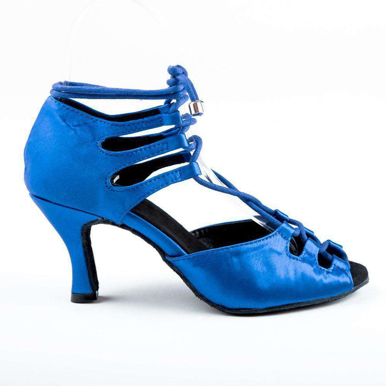 Electric  Blue Satin - Yami Dance Shoes