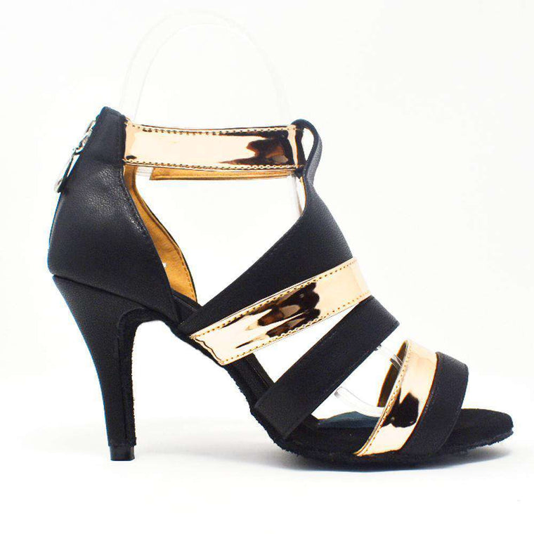 Shuri Black N' Gold Stripes - Yami Dance Shoes