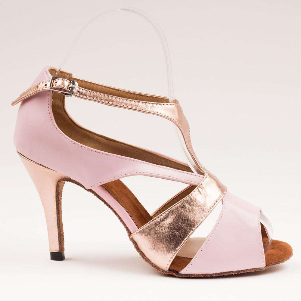 Yami Dance Shoes Dance Shoes Tamia Pink & Rose Gold