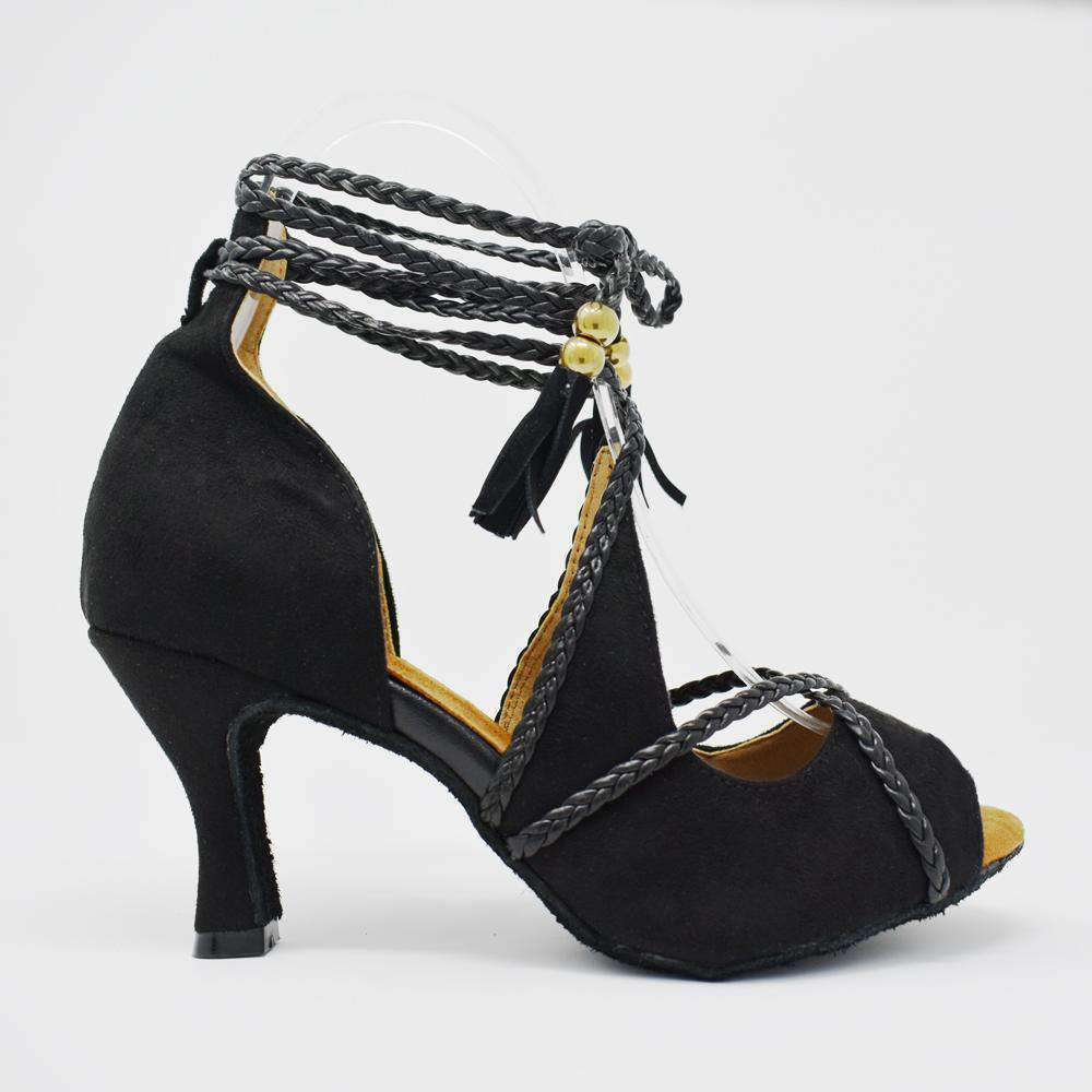 Valeria Black Velvit - Yami Dance Shoes