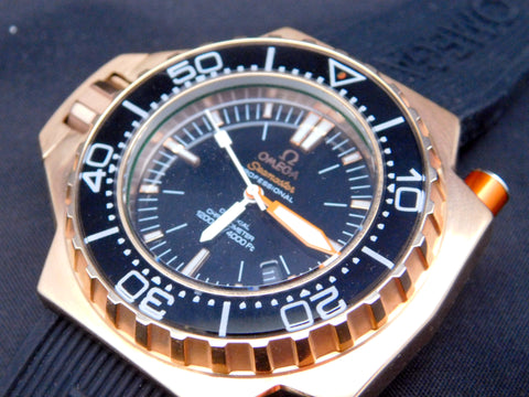 Omega Seamaster Replica Ploprof 1200M 18k Rose Gold Mens Watch - TheBestReplicaWatches.com
