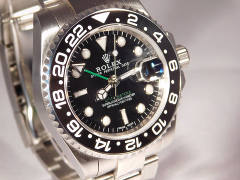Rolex GMT Master ll Black Bezel/Dial SS Mens Watch