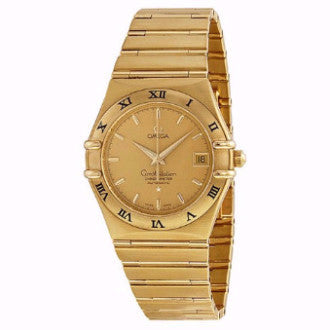 Omega Constellation Replica 18k Gold Men/Women Watch 34mm - TheBestReplicaWatches.com