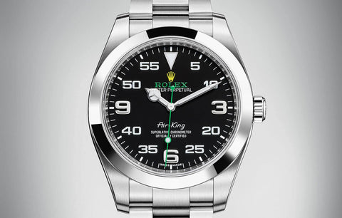 "Rolex Oyster Perpetual ""Air King"" Black Dial Replica Mens Watch"