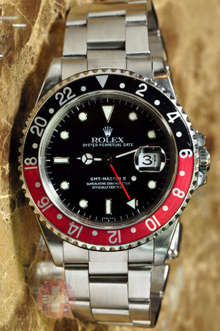 "Rolex GMT Master Replica ll ""Coke"" Bezel Mens Watch - TheBestReplicaWatches.com"