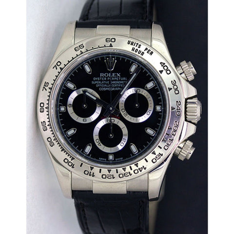 Rolex Daytona Replica Stainless Steel Black Dial Mens Wristwatch - TheBestReplicaWatches.com