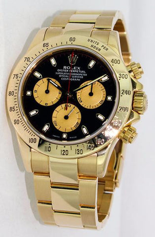 Rolex Daytona 18K Gold Plate Mens Watch 40mm