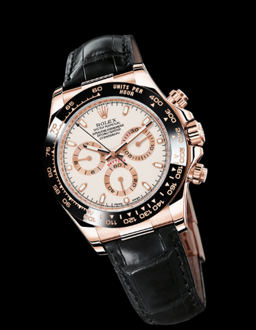 Rolex Daytona Replica 18k Rose Gold White Dial Men's Wristwatch - TheBestReplicaWatches.com