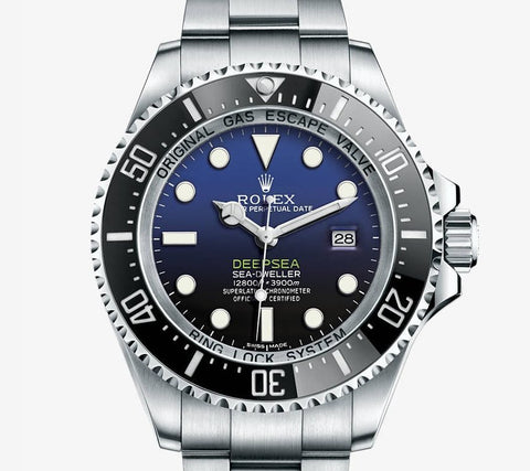 Rolex Deepsea Sea-Dweller D-Blue Dial Mens Watch 44mm