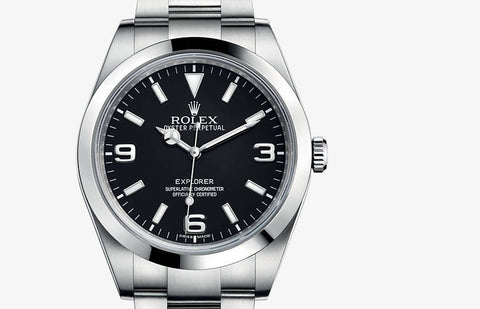 Rolex Explorer 1 Stainless Steel Black Dial Mens Watch