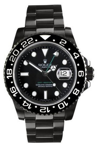 "Rolex GMT Master ll ""All Black"" Mens Watch"