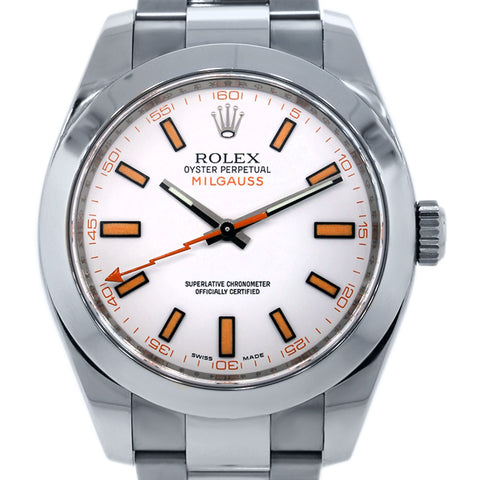 Rolex Milgauss Replica White Dial Mens Watch - TheBestReplicaWatches.com