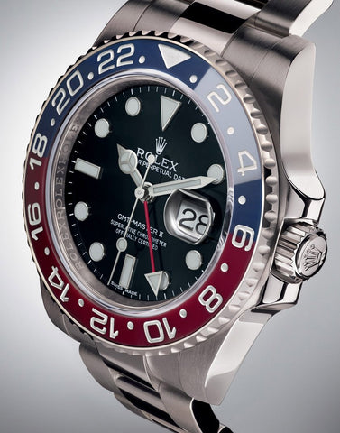 "Rolex GMT Master II Mens Watch With ""Pepsi"" Bezel & Oyster Bracelet - TheBestReplicaWatches.com"