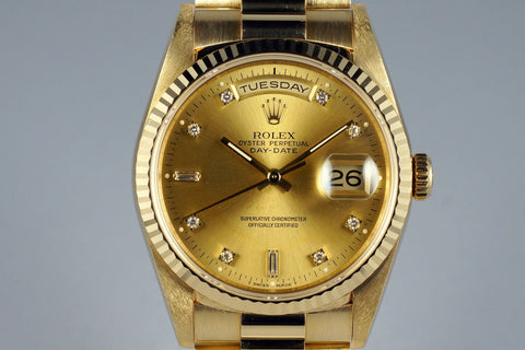Rolex President Replica 18k Yellow Gold With Gold Diamond Dial Mens Watch 40mm - TheBestReplicaWatches.com