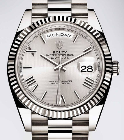 Rolex President Replica Stainless Steel Silver Roman Dial Mens Watch 36mm - TheBestReplicaWatches.com