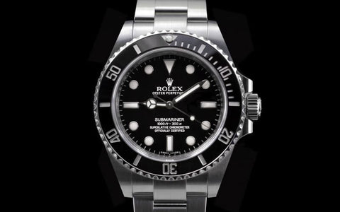 "Rolex Submariner Replica ""No Date""  Black Dial/Bezel Stainless Steel Mens Watch - TheBestReplicaWatches.com"
