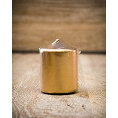 38mm x 50mm pillar candle – 12 pack - Metallic Gold