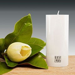 70mm x 150mm pillar candle – White