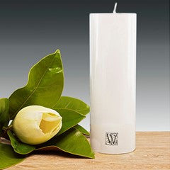 70mm x 225mm pillar candle – White