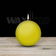 80mm ball (round) candle - 37 colours