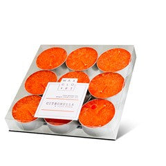 4 hour Citronella tealight - 9 pack