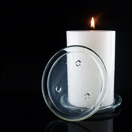 140mm Glass Candle Plate
