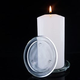 110mm Glass Candle Plate